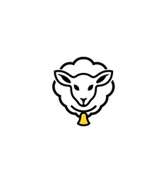 creative sheep logo vector image