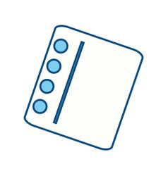 Cute note sheet vector