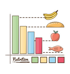 Delicious healthy food with nutrition ingredients vector