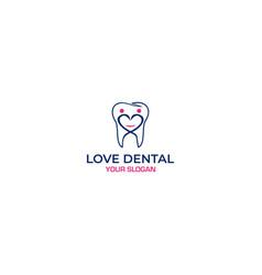 dental love logo design vector image