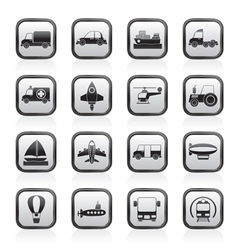 Different kind of transportation icons vector image vector image