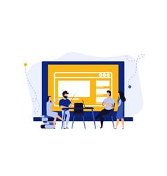 Digital classroom virtual learning education vector