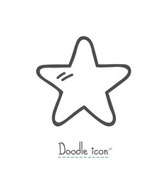 doodle icon star vector image