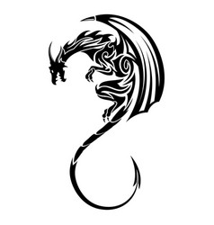 dragon 6 vector image