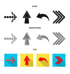 element and arrow sign set vector image