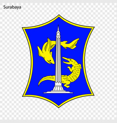 Emblem city of indonesia vector