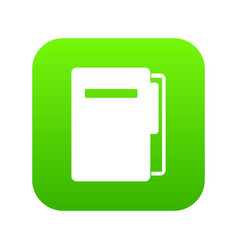 file folder icon digital green vector image