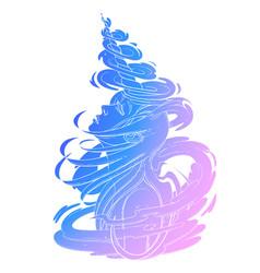 gaphic unicorn girl vector image