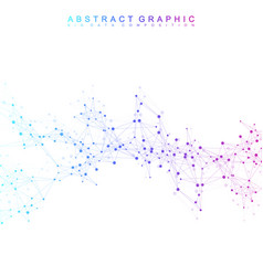 Geometric abstract with connected line and vector