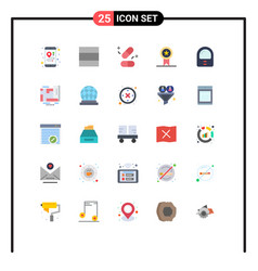 Group 25 modern flat colors set for location vector