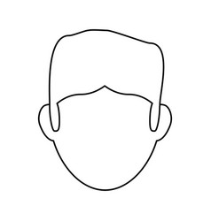 guy faceless head vector image