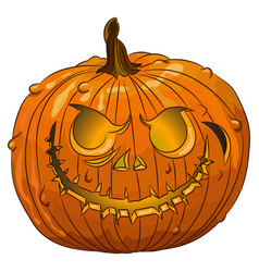 halloween scary pumpkins isolated on white vector image