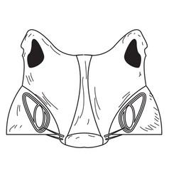 Halloween werewolf mask vector