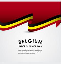 Happy belgium independence day celebrations vector