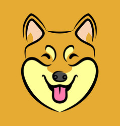 Happy dog face vector