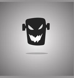 Head zombie halloween isolated vector