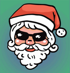 Hipster santa claus fashion with cool beard vector