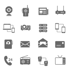 Icon set - communication devices vector