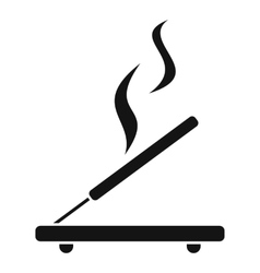 Incense sticks icon simple style vector