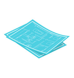 Isometric blueprints vector