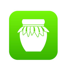 jam in glass jar icon digital green vector image
