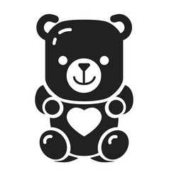 Jelly bear icon simple style vector