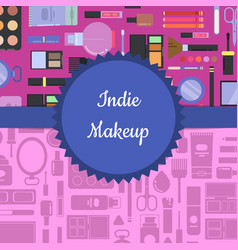 makeup and skincare background vector image