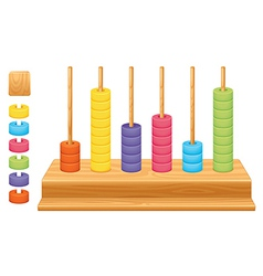 Mathematical place value abacus vector