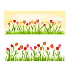 Nature banner isolated set vector