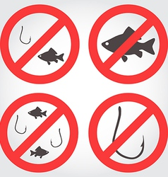 No fishing icons vector
