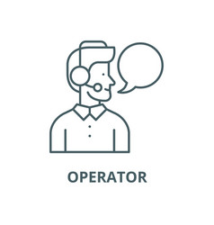 operator line icon linear concept outline vector image