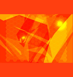 orange polygon backgrounds vector image