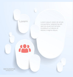 paper background with white stickers vector image