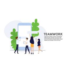 People talking and workingteamwork vector