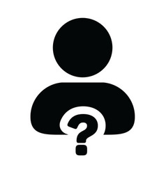 Profile icon with question mark symbol with male vector