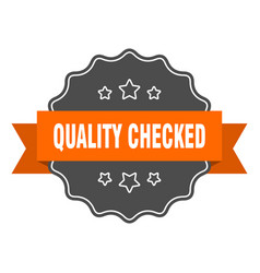 Quality checked isolated seal quality checked vector