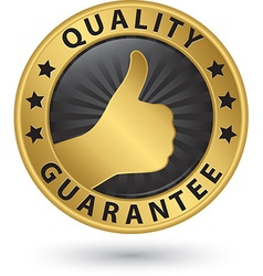 Quality guarantee golden label vector image