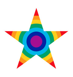 Rainbow star icon vector