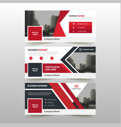 red corporate business banner template vector image