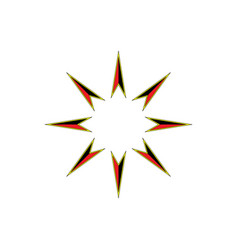 retro star icon vector image