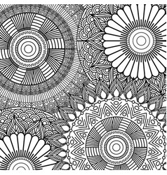 seamless pattern floral abstract vintage vector image