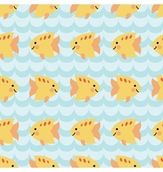 Seamless pattern with flock of cute cartoon vector