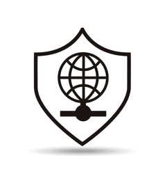 security protection icon vector image