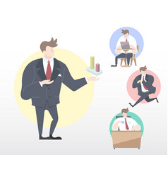 set of a business man vector image