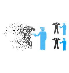 shredded pixelated halftone arrest icon vector image