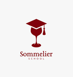sommelier school logo vector image