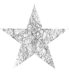 Star Scribble vector image