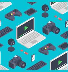 Technology isometric gadgets computer vector