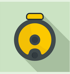top view robot vacuum cleaner icon flat style vector image