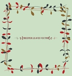 vine leaves 2 vector image